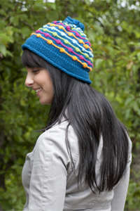 Cascade Yarns® Free Cascade 220® Fingering pattern FW168 Dot and Dashes Hat
