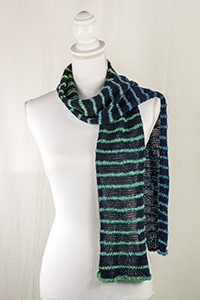 Cascade Yarns® Free Cascade 220® Fingering and Melilila  pattern W724 Scrobb;e and Lace Scarf